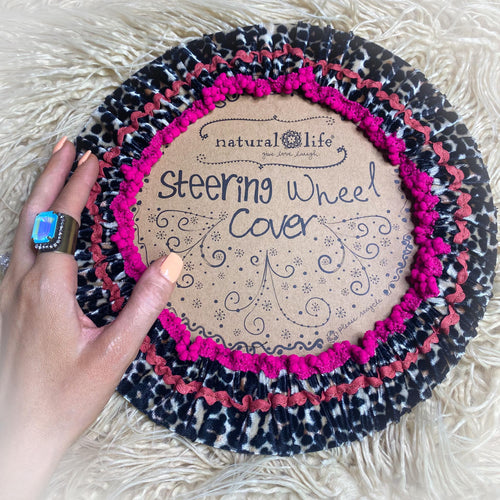 Leopard Fuchsia Steering Wheel Cover