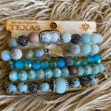 Pink Panache Turquoise Jasper Bracelet Stack - The Lace Cactus