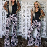 Leopard Star Bell Bottoms Jeans