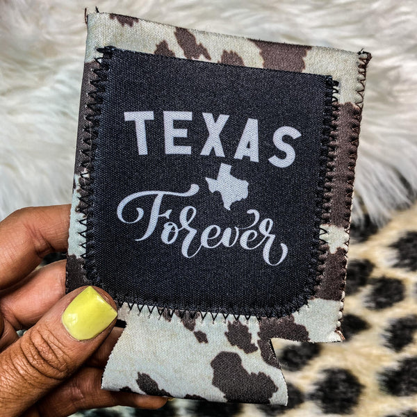 """Texas Forever"" Can Cooler"