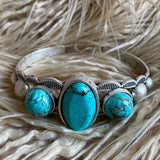 Des Moines Turquoise Cuff - The Lace Cactus