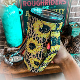 Sunflower Tumbler Cooler - The Lace Cactus