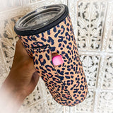 All Leopard Tumbler Cooler - The Lace Cactus