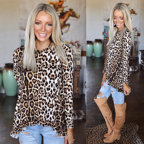 Lindsey Leopard Long Sleeve Tunic