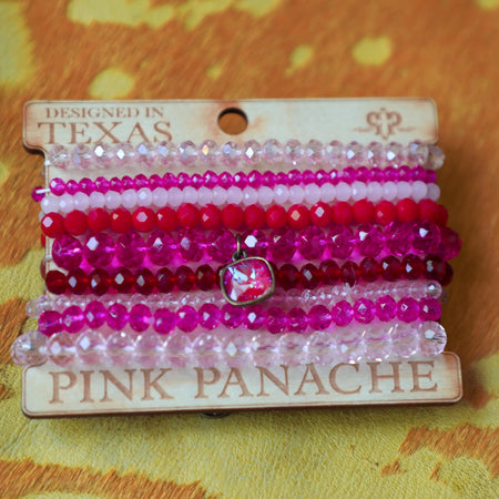 Pink Panache Orange Beaded Tie-Dye Necklace