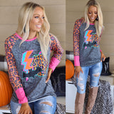 Crazy Train Hollow Light Long Sleeve Raglan - The Lace Cactus