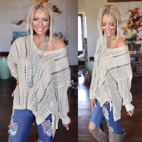 Champagne Slouchy Sweater