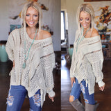 Champagne Slouchy Sweater - The Lace Cactus