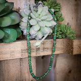 Earth Green Tones Heishi Necklace - The Lace Cactus