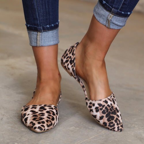 Pippa Leopard Flats - The Lace Cactus