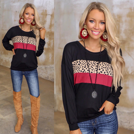 Leopard Bolt Boss Babe Graphic Tee