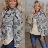 Beast Mode Distressed Camo Jacket - The Lace Cactus