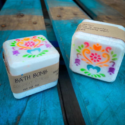 Square Bath Bombs - The Lace Cactus