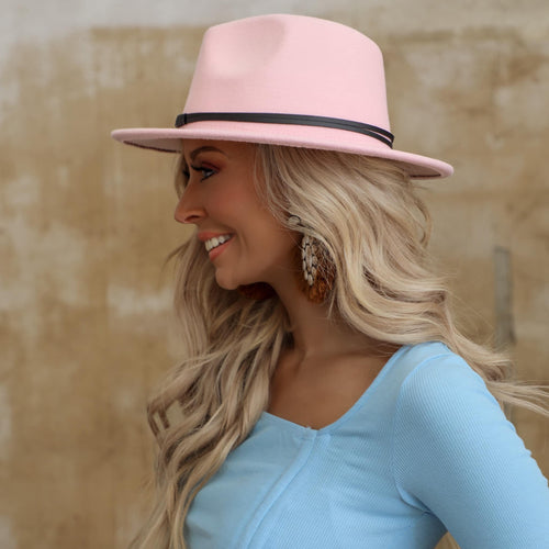 Light Pink Felt Hat