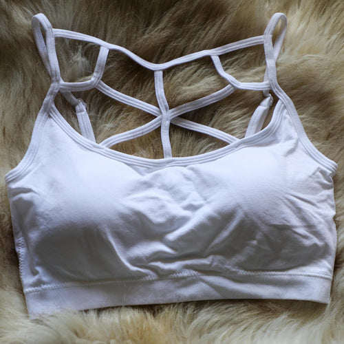 White Star Caged Bralette