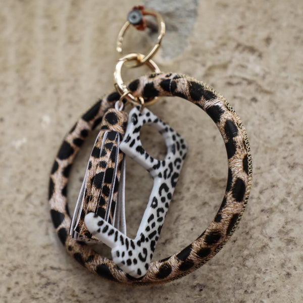 "Leopard Ring Keychain with ""Key"" - The Lace Cactus"