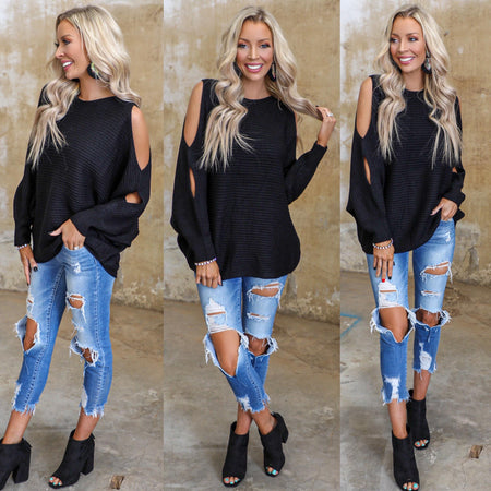 Black 5-Button Distressed Skinny Jeans