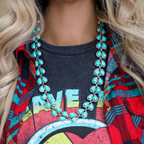Teary Turquoise Necklace - The Lace Cactus
