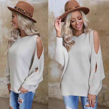 Austin Leopard Criss Cross Long Sleeve Top