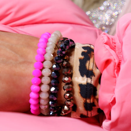 Purple Obsessed Assorted Bead Stack Bracelets
