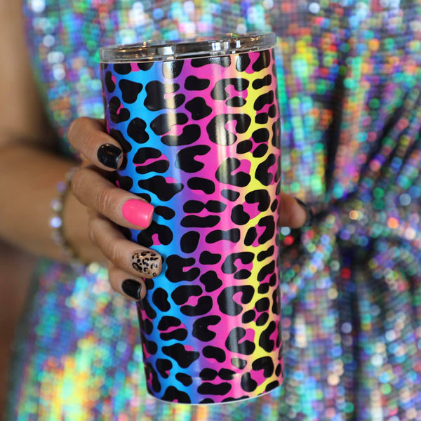 20oz Neon Leopard Cup - The Lace Cactus