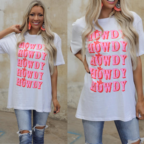 Howdy Howdy Howdy Graphic Tee - The Lace Cactus