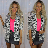 The Snow Leopard Blazer - The Lace Cactus