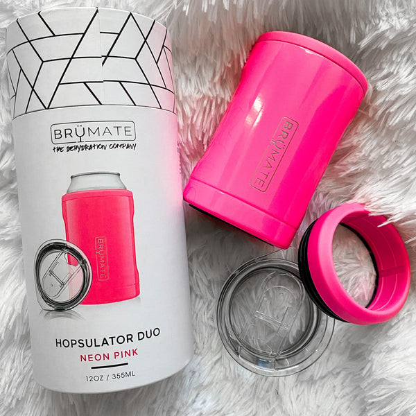 HOPSULATOR DUO 2-IN-1 | NEON PINK (12OZ CANS/TUMBLER) - The Lace Cactus