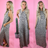 Free The Leopard High Neck Maxi Dress - The Lace Cactus