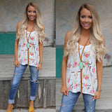 Rio Randy Floral Steer Tank Top