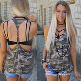 Camo Braided T-Back Tank Top
