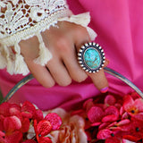 Turquoise Moon Stone Ring