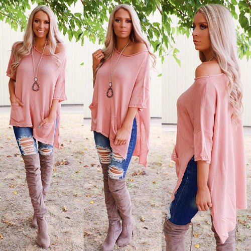 Angelic Blush Oversize Knit Sweater
