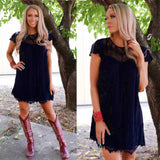 Big City Bound Black Lace Dress