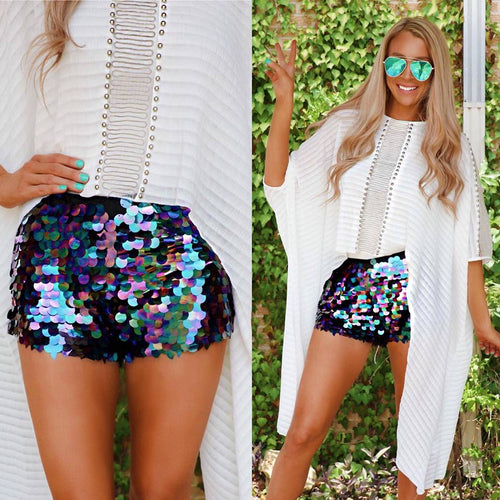 Boujee Black Sequin Shorts