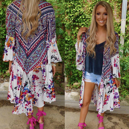 Keeper of the Flame Ruffle Trim Kimono