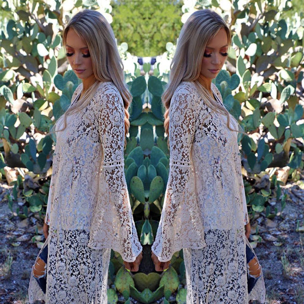 Ivy Lace Bell Sleeve Duster