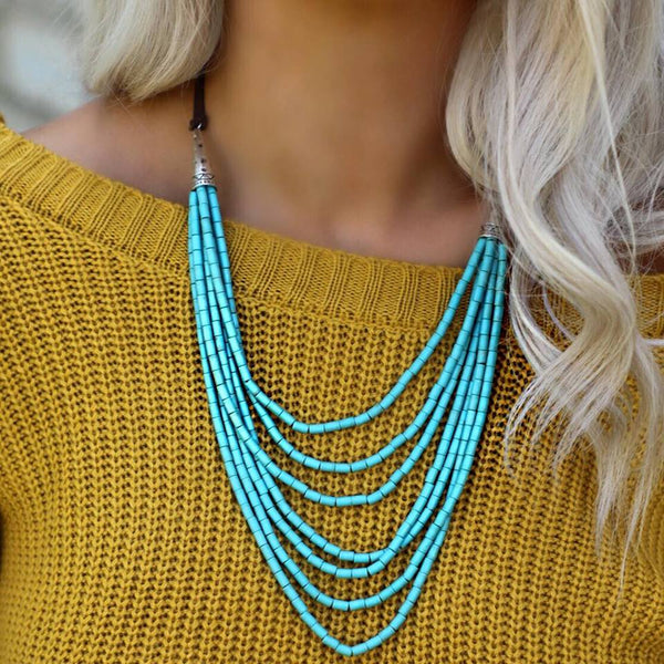 Tacy Layered Turquoise Necklace