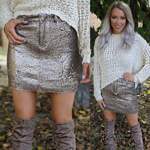 Golden City Sequin Skirt