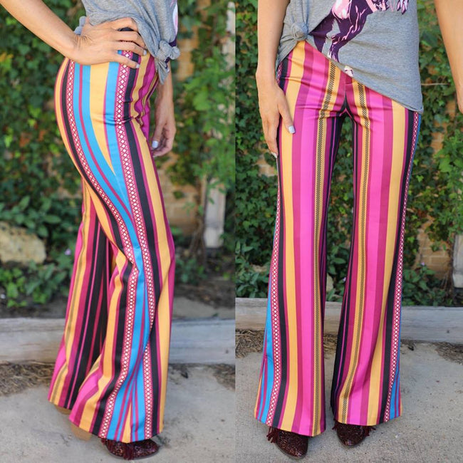 Springtown Striped Flare Pants