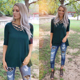 Jade Green Caged Tunic