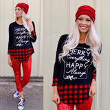 Merry Everything Happy Christmas Long Sleeve Top