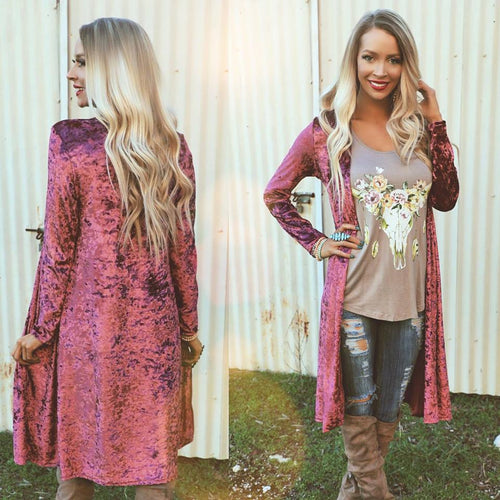 Panama Purple Velvet Duster