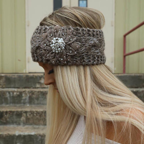 Mocha Bling Ear Warmer