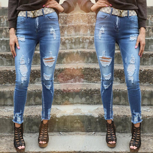 Hello Gorgeous Light Distressed Skinny Jeans