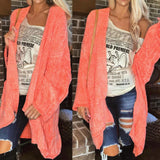 Coral Oversize Cardigan