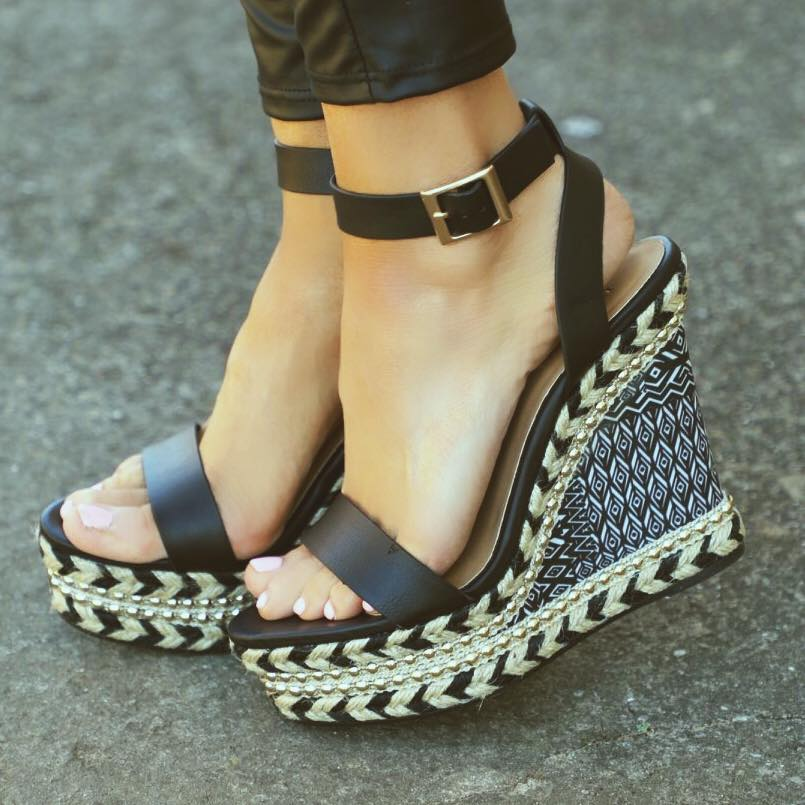 98fb3383f1f9 Branson Black Studded Aztec Wedges – The Lace Cactus