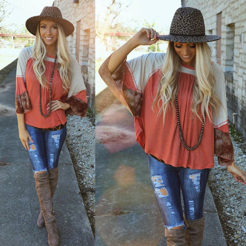 Rusted Rain Bell Sleeve Top