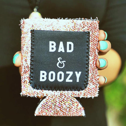 Bad & Boozy Sequin Can Cooler - The Lace Cactus