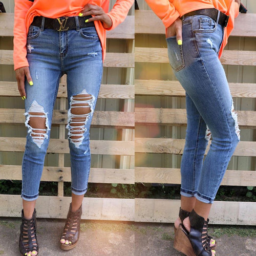 Asheville High Rise Skinny Crop Jeans
